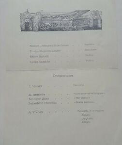 PROGRAMMA PIAZZOLA 1931 VIVALDI CONCERTO KASCHMAN LINDER SCATTOLA CARNET MENÙ
