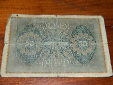1x billet 50 mark WW1 FUNFZIG Reichsbanknote REICH MONEY imperial germany