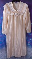 Vintage Peach Sears Apostrophe Gown Ladies Size Small Full Coverage Lace at Top