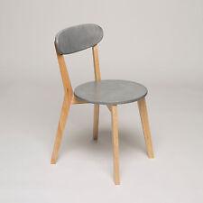 4x Esszimmerstuhl Stühle 4er Set grau Retro Holz Esszimmerstühle Küchenstühle
