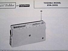 TOSHIBA 8TM-300S TRANSISTOR RADIO PHOTOFACT
