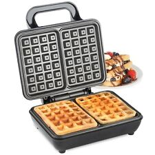 VonShef Waffle Maker Dual Belgian Non-Stick Coated Plates Temperater Control