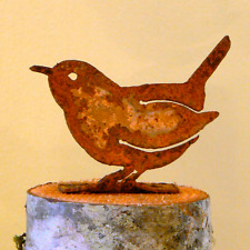 Rusty Metal Carolina Wren Bird Silhouette Accent for Inside or Outside