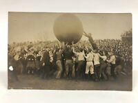 Antique VTG 1914 University of Illinois Push Ball RPPC Real Photo Postcard