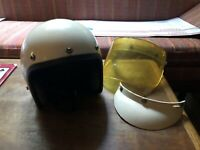 Bell Vintage Racing Helmet Dated 82 3/4 Open Face W Visor XL