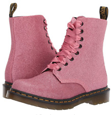 BRAND NEW & BOXED DR MARTENS 1460 PASCAL GLITTER PINK UK3 WOMANS GIRLS BOOTS