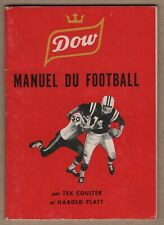 1960's Tex Coulter Football CFL Dow Manuel du Football Sharp Condition   1.99$
