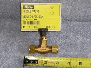 RV Marine Parker Brass Needle Pipe Hose Tube Shut off - on valve 6Z-VL4L-B USA