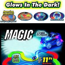 Racetrack Race Car Glow Tracks Childen Light up LED 1 Set  Toys Magic Bend