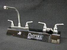 RV Marine Mobile Home Parts Kitchen Sink & Bathroom Lav Faucet Combo Brushed