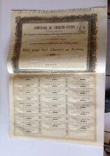 Compagnie Du Cherche-fuites Maccaud Et Compagnie 1857  Part D'intérêt Au Porteur