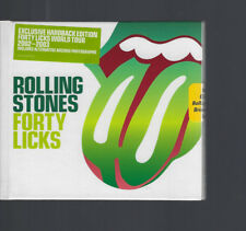 "ROLLING STONES ""Forty Licks"" HARDCOVER BOOK 2 CD + Stamps sealed"