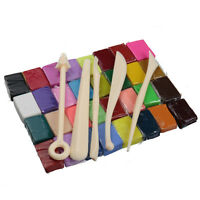 5 Tools+32 Colors Polymer Clay Fimo Block Modelling Moulding Sculpey DIY Toys !