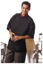 Black Coat, Tunic Style, Mesh Back, Snap Closure, Short Sleeve, Size: Xs - 428