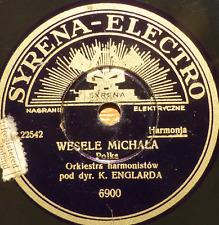 polish poland 78 RPM-wesele michala- polka - k. englarda -SYRENA ELECTRO 1930's