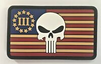 Punisher 3% 13 Star Flag PVC Patch Hook & Loop  (SWAT SEAL Resident Evil) 486