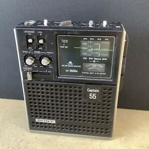 Sony ICF-5500m Captain 55 Radio - Untested
