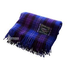 SCOTTISH 100% WOOL TARTAN RUG / BLANKET / THROW - HERITAGE OF SCOTLAND