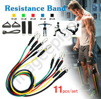 Resistance Bands Workout Exercise Yoga 11Pcs Crossfit Fitness Training Tubes