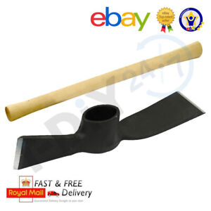 7lb Pick Head OR 5lb Mattock Wooden Handle for Garden Trench Land Digging
