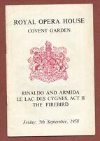 """Royal Ballet Covent Garden 1958, Beriosova,  Rassine, Ashton  """"Rinaldo""""   JX1408"""