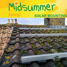 Baldosas/pizarra techo Kit de montaje para 4 paneles solares PV Para Hogar/DERRAMADA/GARAJE