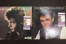 Rick Springfield Signed Album Cover Lot 2 JSA Authenticated Plus Rick Derringer