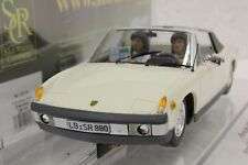 SRC 02004 PORSCHE 914/6 LIGHT IVORY STREET CAR NEW 1/32 SLOT CAR IN DISPLAY CASE