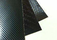 Carbon Fiber Sign Vinyl Sample Sheets,  4 Sheets, One of Each Style, 8 x 12 inch