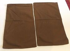 GUCCI SET OF 2 BROWN FLANNEL FELT  DUST BAG SLEEPER SHOES TRAVEL 15.5 X 9