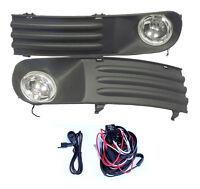 FOG LIGHTS LAMPS GRILLES SET FOR VW TRANSPORTER T5 2003-2009 & WIRING KIT