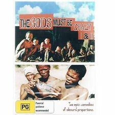 THE GODS MUST BE CRAZY 1 & 2 DVD=2 DISC SET=REGION 0 AUST.= BRAND NEW AND SEALED