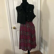LuLaRoe Madison Skirt w/ Pockets -purple With Cute Reindeer- Size 3XL -