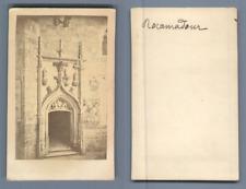 Rocamadour, la Chapelle Notre-Dame  Vintage albumen CDV, carte de visite CDV,
