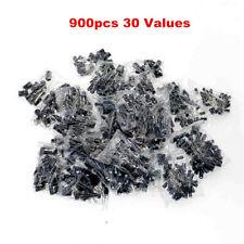 900pc Radial Electrolytic Capacitor Assortment Kit 30 Value 01uf 1000uf 10v 50v