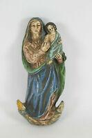 VIERGE ET L'ENFANT EN TERRE CUITE. POLYCHROME. STYLE BAROQUE. XVIII-XIX SIÈCLE