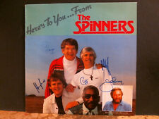THE SPINNERS  Here's To You From . . .   SIGNED BY THE BAND     NEAR-MINT!