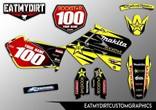 SUZUKI RM 125 250 2002-2017 CUSTOM GRAPHICS KIT STICKERS MOTOCROSS DECALS MX