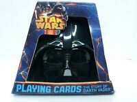 Star Wars Playing Cards - Story Of Darth Vader Helmet Case NEW