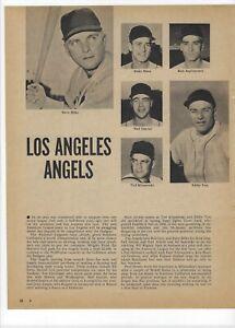 1960 Los Angeles Angels Major League Baseball Magazine Full Page Print Ad Yost