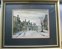 Suzanne Jones - Signed Mid 20th Century Watercolour  ' Winter Street Scene '