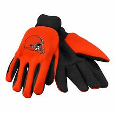 Cleveland Browns Gloves Sports Logo Utility Work Garden NEW Colored Palm