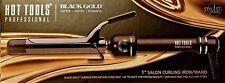 """Hot Tools Black Gold Titanium Micro-Shine Salon Curling Iron 1"""" DUAL VOLTAGE"""