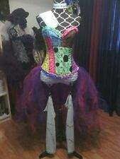 Sally inspired corset couture costume, EDM, Burlesque, cosplay, custom made