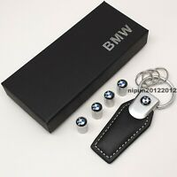 New BMW Cars Keyring + Set of 4x Tyre Valve Dust Caps With Gift Box For Him Her