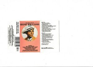 Hank Williams- The great Hits Of UK cassette album