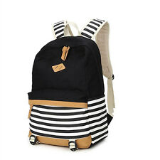 Women's Canvas Backpack School Satchel Shoulder Bag Rucksack Travel Bookbag