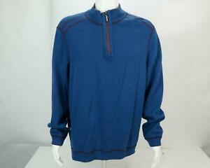 Tommy Bahama Men's Pullover Long Sleeve Half Zip Sweater Blue X-Large