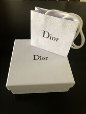 """New Dior Authentic Collectible Storage Gift Box 8""""X8""""x3.5"""" &Bag 5.75""""X 5""""x 2"""""""