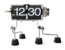 NEW KIKKERLAND ROBOT FLIP CLOCK RETRO INDUSTRIAL MODERN DESIGN1745